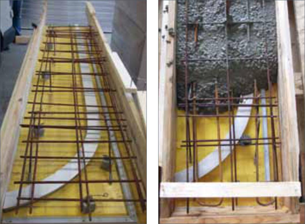 schema binario acciaio inox binario inserito cemento armato binario nel calcestruzzo binario da cantiere binario sagomato come dima binario binario